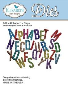 Elisabeth Craft Dies Y el estampado de la plantilla, Elizabeth Craft Diseño Alfabeto 1-967 Sombrero