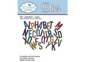 Elisabeth Craft Dies Stempling og prægning stencil, Elizabeth Craft Design alfabet 1-967 Hat