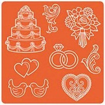 Mod Podge, Mod Mold Wedding, 95 x 95 mm, 8 Designs