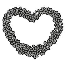 Skæring og prægning stencils, Craftables - Topiary Heart