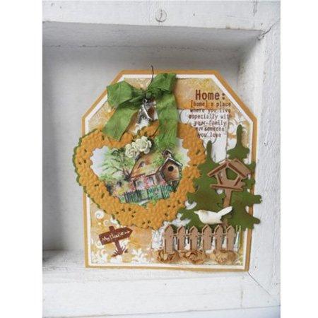 Marianne Design Skæring og prægning stencils, Craftables - Topiary Heart