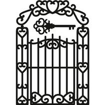 Skæring og prægning stencils, Craftables - Garden Gate