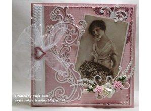 Marianne Design Corte y estampado en relieve plantillas Creatables - frontera de Anja elegantes