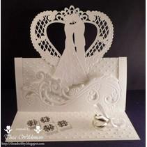 Skæring og prægning stencils Creatables - brudeparret