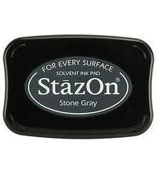 FARBE / INK / CHALKS ... StaZon stamp ink - Stone Gray