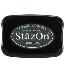 FARBE / INK / CHALKS ... Stazon timbro a inchiostro - grigio pietra