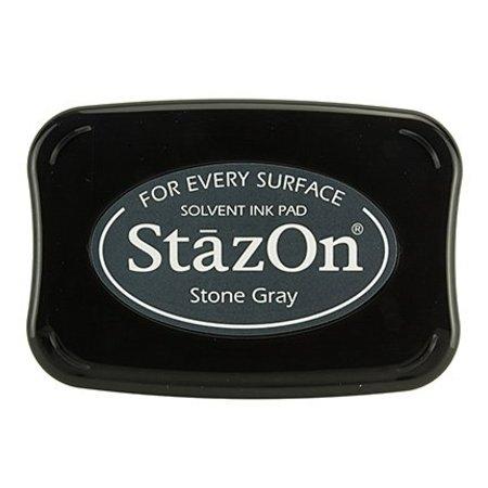 FARBE / INK / CHALKS ... StaZon stempel blæk - Stone Gray