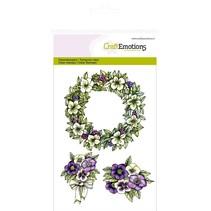"CraftEmotions Transparent stempel A6, Delikatesse ""Guirlande Purple Holiday"""