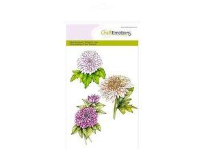Crealies und CraftEmotions Håndværk Emotions Transparente frimærker A6, krysantemum gren botanik sommer