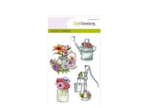 Crealies und CraftEmotions Craft Emotions Transparent stamps A6, watering pump Botanical Summer
