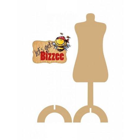 Objekten zum Dekorieren / objects for decorating 1 mannequin med Stand MDF 291 x 9 mm