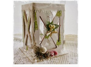 Objekten zum Dekorieren / objects for decorating Let's get Bizzee, lantern MDF 150 x 100 mm