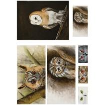 Decoupage Paper 50x70cm soft, Owl