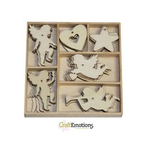 Holiday Ángel 30 piezas en una caja de madera !! 10,5 x 10,5 cm