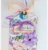 Graphic 45 Cardstock sweet sentiments, 2 sheets