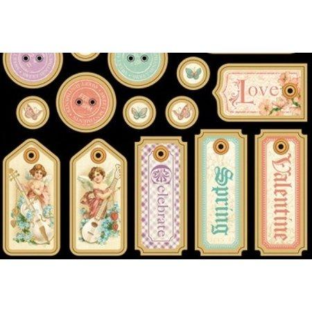 Graphic 45 Spånplader, stansedele, søde Sentiments Collection