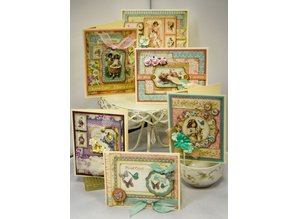 Graphic 45 Chip boards, stamped parts, Sweet Sentiments Collection