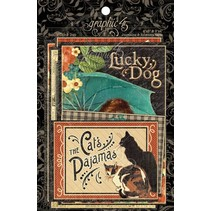 Raining Cats & Dogs - Journaling & Ephemera Cards