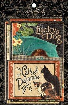 Graphic 45 Raining Cats & Dogs - Journaling & Ephemera Cards