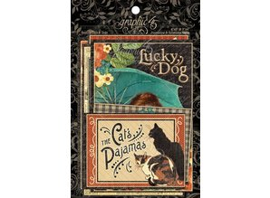 Graphic 45 Raining Cats & Dogs - Journaling Cards & Ephemera