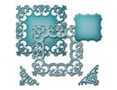 Spellbinders und Rayher Spellbinders Nestabilities Labels, punch template Doily
