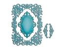 Spellbinders und Rayher Spellbinders Nestabilities Etiketter, hulning skabelon doilies, dekorative rammer og hjørne