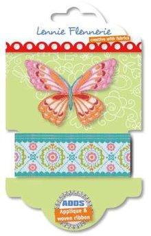 Textil Lennie Flennerie, sommerfugl stof bånd og applikationer