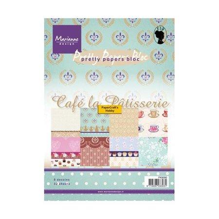 Marianne Design Designer Paper Pad A5, Café La Patisserie fra Marianne Design