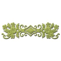 Spellbinders Nestabilities Etiketter, Punch skabelon blomstret grænsen, ornament