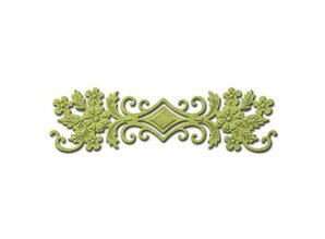 Spellbinders und Rayher Spellbinders Nestabilities Labels, punch template floral border, ornament