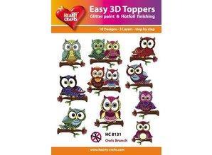 BILDER / PICTURES: Studio Light, Staf Wesenbeek, Willem Haenraets Easy 3D Design, Owl, 10 3D designs in a pack!