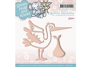 Yvonne Creations Embossing and cutting template, stork