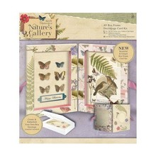 Docrafts / Papermania / Urban A5 Decoupage-Karte Kit Box Frame - Natur Galerie