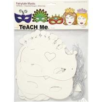 Tale maskers H:. 13,5-25 cm, 16 sorteren, 230 g + Sequin Mix, Maat 15-45 mm