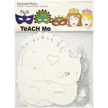 Kinder Bastelsets / Kids Craft Kits Maschere Racconto H:. 13,5-25 di cm, 16 sort, 230 g + Paillette Mix, Size 15-45 mm