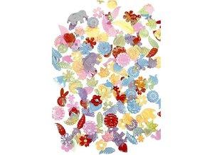 Kinder Bastelsets / Kids Craft Kits Tale masks. H: 13.5 to 25 cm, 16 sort, 230 g + Sequin Mix, Size 15-45 mm