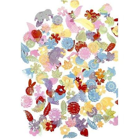 Kinder Bastelsets / Kids Craft Kits Märchen Masken, H: 13,5-25 cm, 16 sort., 230 g + Paillettenmischung, Größe 15-45 mm