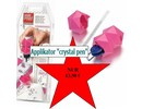 "BASTELZUBEHÖR / CRAFT ACCESSORIES NEW:. Applicator ""crystal pen"" textile, including 21 Swarovski Rhinestones"