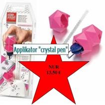 "NEW :. Applikator ""krystal pen"" tekstil, herunder 21 Swarovski rhinstene"