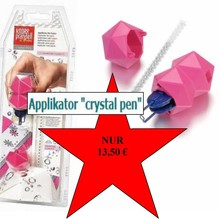 "BASTELZUBEHÖR / CRAFT ACCESSORIES NEW :. Applikator ""krystal pen"" tekstil, herunder 21 Swarovski rhinstene"