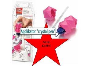 """BASTELZUBEHÖR / CRAFT ACCESSORIES NEW :. Applikator """"krystal pen"""" tekstil, herunder 21 Swarovski rhinstene"""