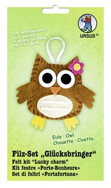 "Kinder Bastelsets / Kids Craft Kits Felt Craft Kit ""lucky charm"" owl"