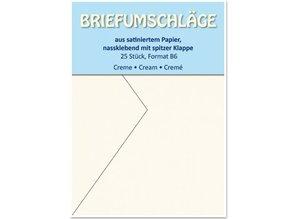 KARTEN und Zubehör / Cards 25 envelopes B6, satin, cream
