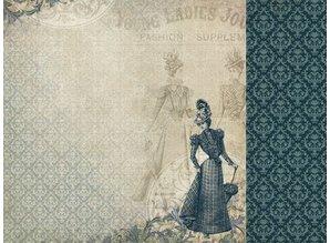 "Designer Papier Scrapbooking: 30,5 x 30,5 cm Papier 3 Bogen, Designerpapier ""Couture Kollektion Edition I"" + 1 Basiskarte + Spitze Dekoband!"