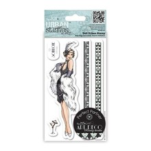 STEMPEL / STAMP: GUMMI / RUBBER Timbro Large - Ballerini dei ruggenti anni Venti