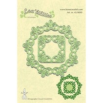 Leabilities, stamping - and embossing stencil, frame round lace