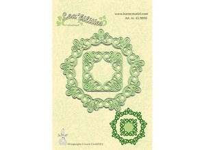 Leane Creatief - Lea'bilities Leabilities, stamping - and embossing stencil, frame round lace