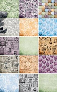 DESIGNER BLÖCKE  / DESIGNER PAPER Blocco di carta, carta blocco Cronologia, 15,2 x 15,2xm