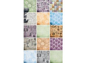 DESIGNER BLÖCKE  / DESIGNER PAPER Bloque de papel, papel bloque Cronología, 15,2 x 15,2xm