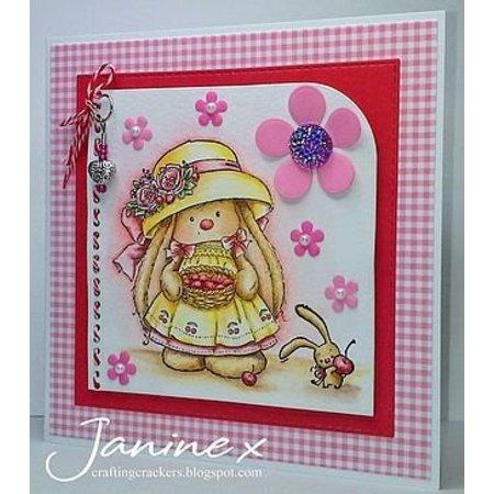 Stempel / Stamp: Transparent Gennemsigtige frimærker, Cherry Rabbit